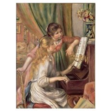 Young Girls at the Piano, 1892 (oil on canvas) Poster