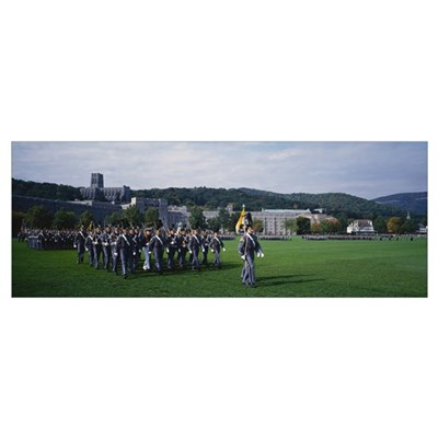West Point Cadets Marching Poster
