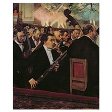 The Opera Orchestra, c.1870 (oil on canvas) Framed Print
