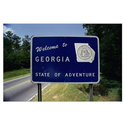 Welcome to Georgia State Sign GA Poster