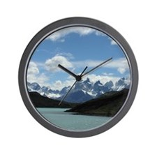 Patagonian Mountainscape - Wall Clock