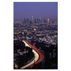 Hollywood Freeway Los Angeles CA Poster