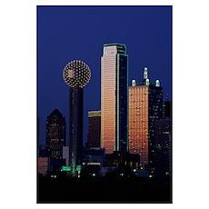 Reunion Tower Dallas TX Poster