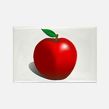Red Apple Fruit Rectangle Magnet