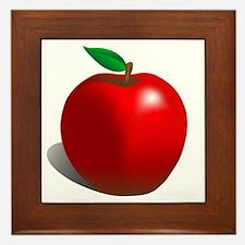 Red Apple Fruit Framed Tile
