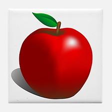 Red Apple Fruit Tile Coaster