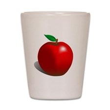 Red Apple Fruit Shot Glass