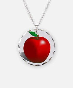 Red Apple Fruit Necklace
