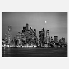 Massachusetts, Boston, Panoramic view of a city sk