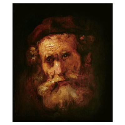 A Rabbi (oil on canvas) Poster