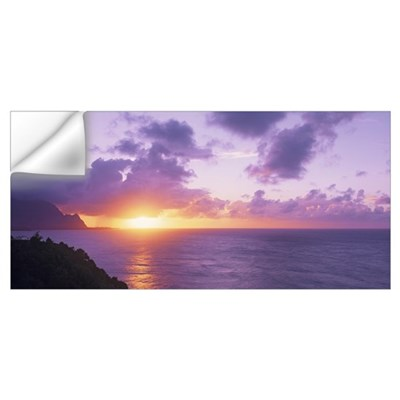Sunset at Hanalei Bay Kauai HI Wall Decal