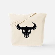 Bull Skeleton Tote Bag