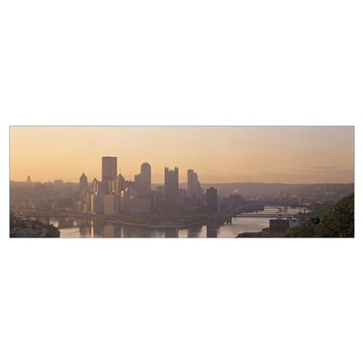 Pennsylvania, Pittsburgh, Allegheny and Monongahel Framed Print