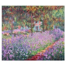 The Artists Garden at Giverny, 1900 (oil on canvas Poster