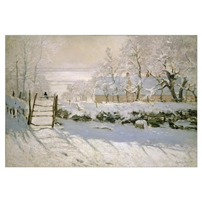 The Magpie, 1869 (oil on canvas) Framed Print