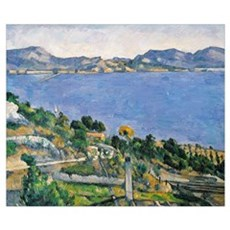 LEstaque, View of the Bay of Marseilles, c.1878 79 Poster