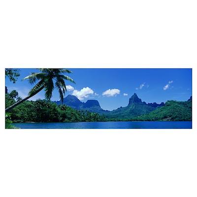 Moorea Island Tahiti Poster