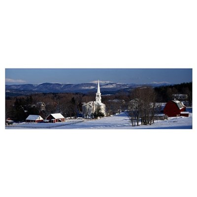 Vermont, Peacham, winter Poster