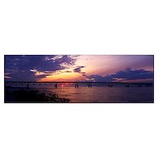 Michigan, Macinaw City, Mackinac Bridge Poster