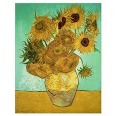 Sunflowers, 1888 (oil on canvas) Poster