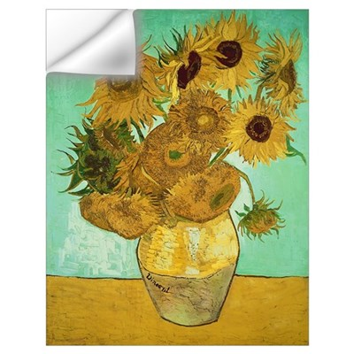 Sunflowers, 1888 (oil on canvas) Wall Decal
