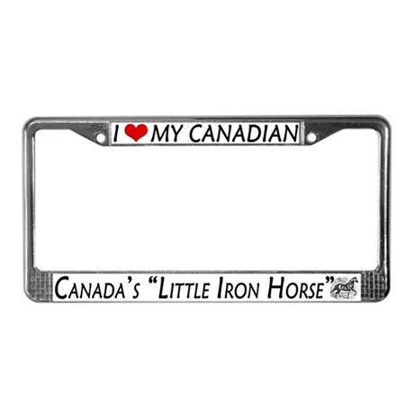 Canadian Horse Lover's License Plate Frame