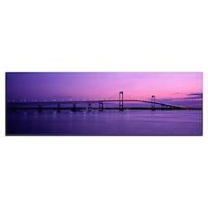 Newport Bridge Conanicut Island Newport RI Poster