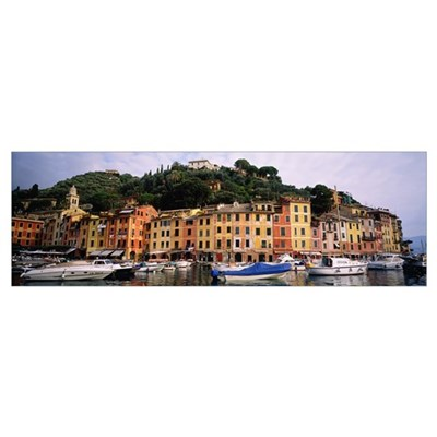 Harbor Houses Portofino Italy Framed Print