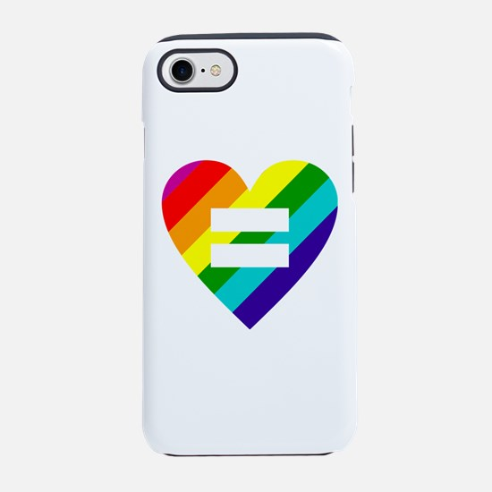 Rainbow love equals love iPhone 7 Tough Case