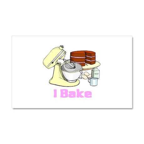 I Bake Car Magnet 20 x 12
