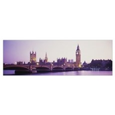 Sunset Big Ben London England Canvas Art