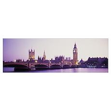 Sunset Big Ben London England Poster