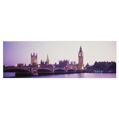 Sunset Big Ben London England Poster