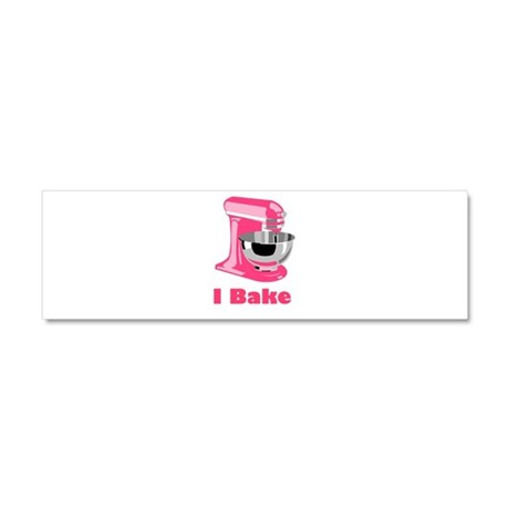 I Bake Pink Car Magnet 10 x 3