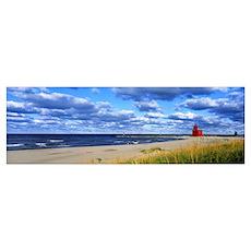 Big Red Lighthouse Lake Michigan Holland MI Poster