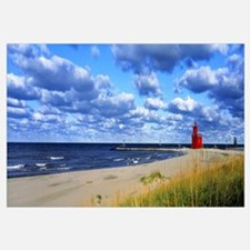Big Red Lighthouse Lake Michigan Holland MI