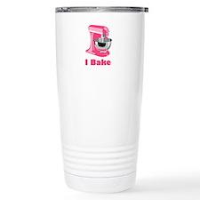 I Bake Pink Travel Mug