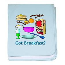 Got Breakfast? baby blanket