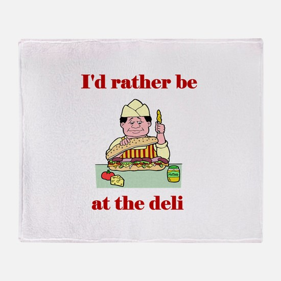 The Deli Throw Blanket