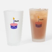 Ouch Cupcake Drinking Glass