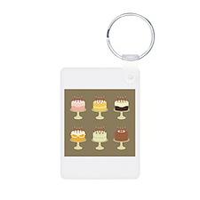 Cake Card Keychains