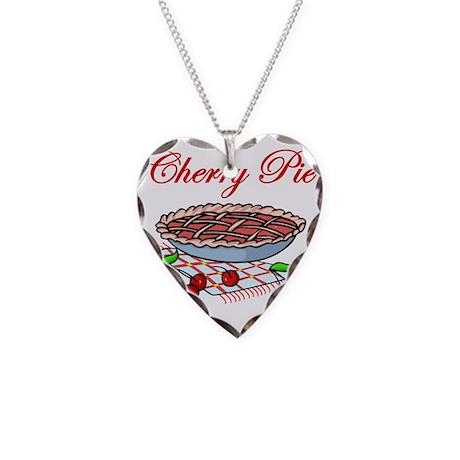 Cherry Pie Necklace Heart Charm