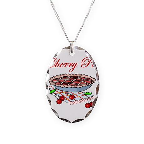 Cherry Pie Necklace Oval Charm