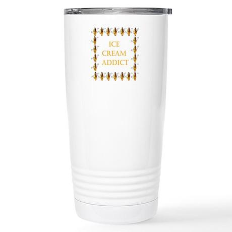 ice cream addict Stainless Steel Travel Mug