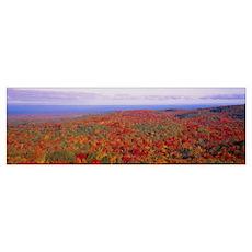 Fall Summit Peak Porcupine Mountains Wilderness St Poster