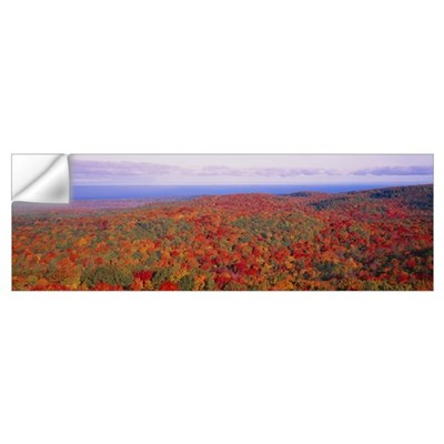 Fall Summit Peak Porcupine Mountains Wilderness St Wall Decal