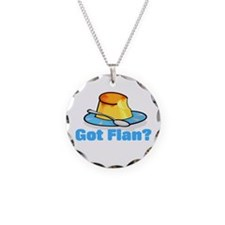 Got Flan Necklace Circle Charm