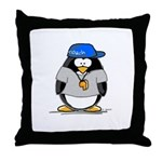 Coach penguin Throw Pillow