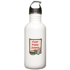 Fast Food Junkie Water Bottle