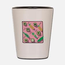 Pink Sushi Collage Shot Glass